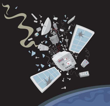 wrecked: Wrecked satellite