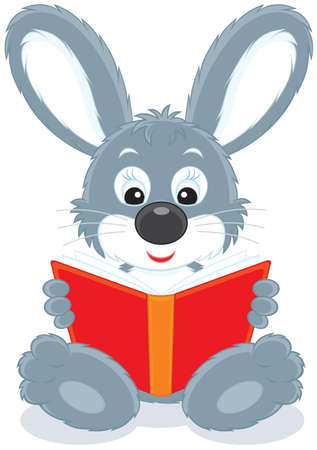 Hare reading a book Stock Vector - 12018361