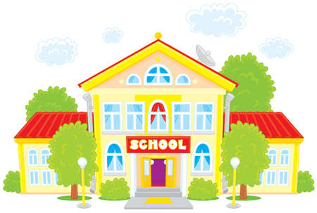 house clip art: School