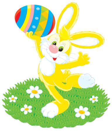 grassy plot: Conejo de Pascua la celebraci�n de un huevo pintado de colores