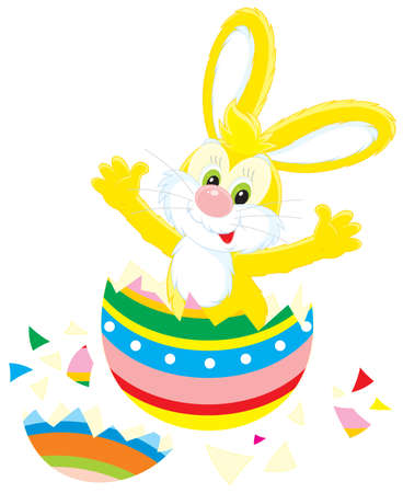 pasch: Easter Bunny that hatched out from a painted egg