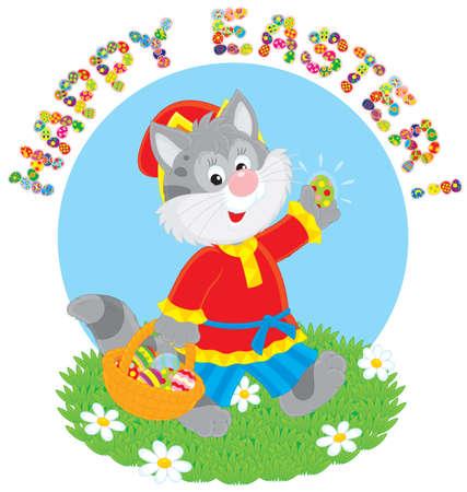 villager: Happy Easter Illustration