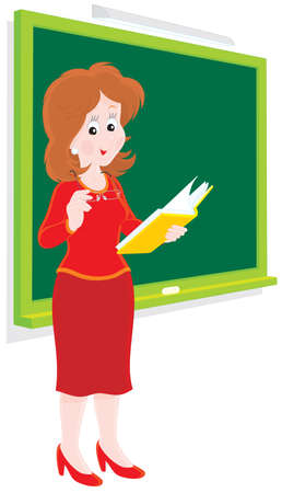 pedagogical: School teacher Illustration