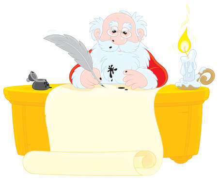 father frost: Santa Claus writing