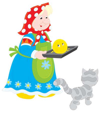 folktale: La abuela al horno Roly-Poly