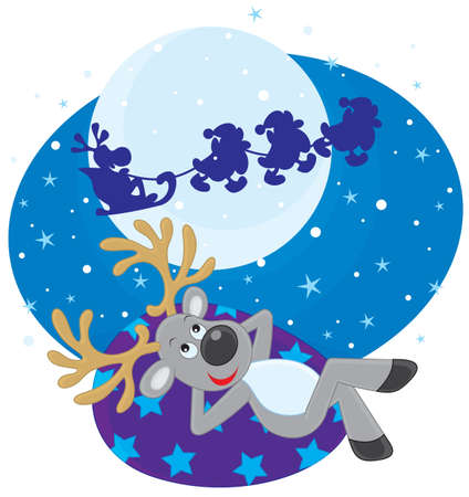 Dream of Reindeer Stock Vector - 16673310
