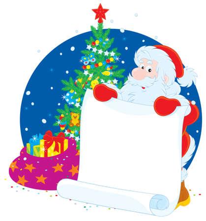xm: Santa Claus with announcement Illustration