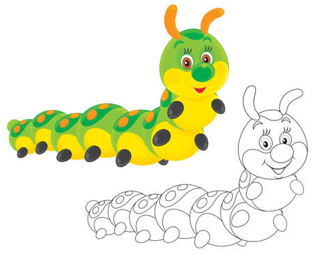 caterpillar friendly smiling Stock Photo - 17127039