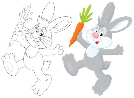 high spirits: Bunny with a carrot