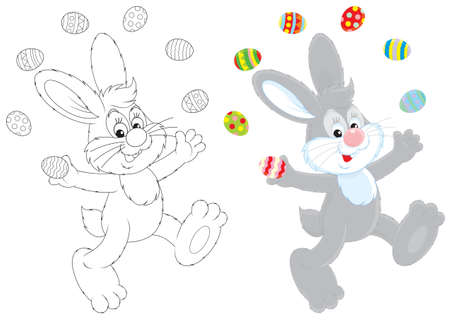 coloring easter egg: Easter Bunny