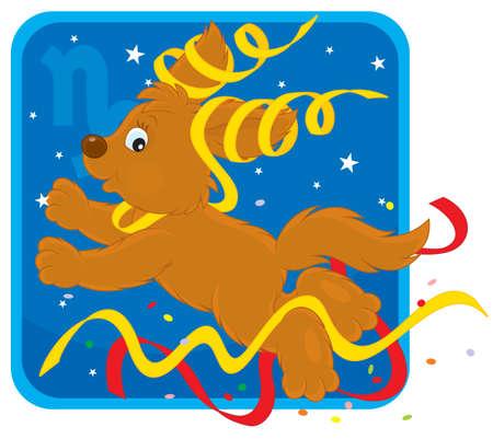welpe: Sternzeichen des Steinbocks als Spielwiese pup