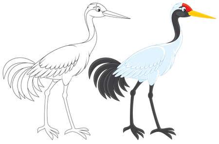aves caricatura: Grúa