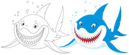 man eater: Great white shark Stock Photo