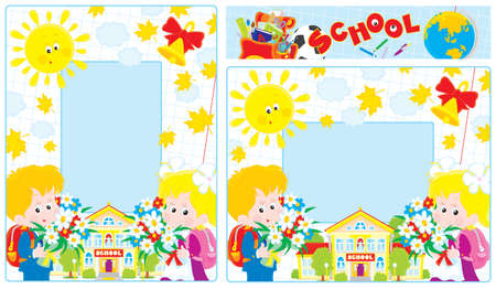 School borders Stock Vector - 18075839