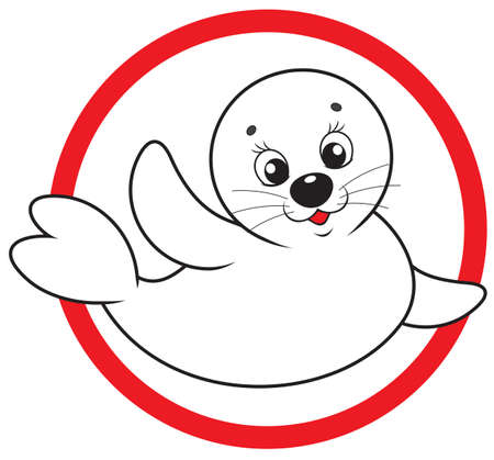 baby drawing: Save white-coat seal