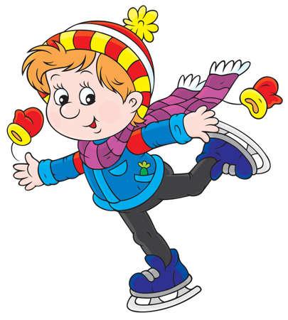 boy skater: boy skating Illustration
