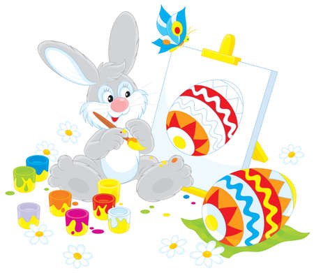 eastertide: Easter Bunny painter