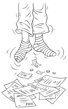 himself: Suicide after receiving of bills to payment of utilities