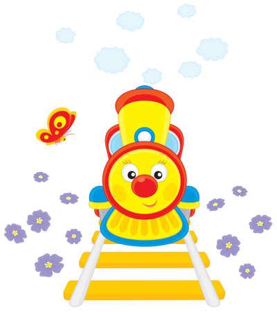 tren caricatura: Tren de juguete
