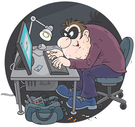 spammer: Hacker Illustration