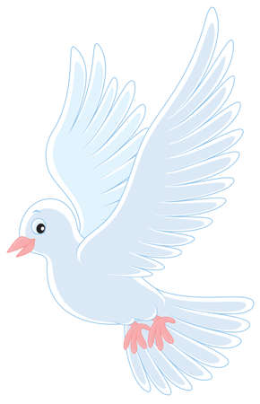 White pigeon flying Stock Vector - 20058819