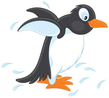 bird clipart: Pinguino