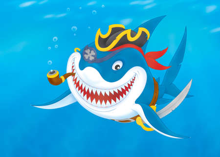 carcharodon: Great white shark pirate