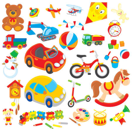 children s toys Illustration
