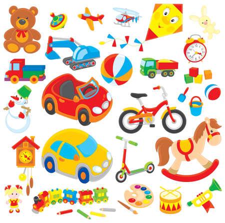 kinderen en speelgoed Stock Illustratie