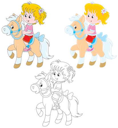 Meisje rijdt op een pony