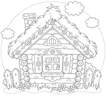 Log-Hütte Vektorgrafik