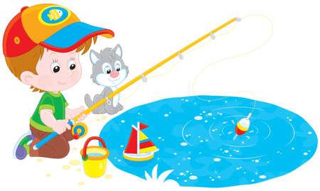Little fisher Stock Vector - 27251452