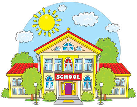School illustration Stok Fotoğraf - 28040016