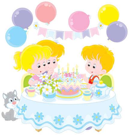 gleeful: Birthday cake Illustration