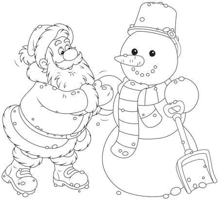 산타와 눈사람