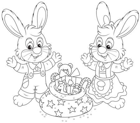 Little Rabbits with gifts