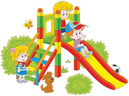 Children's glijbaan in een park