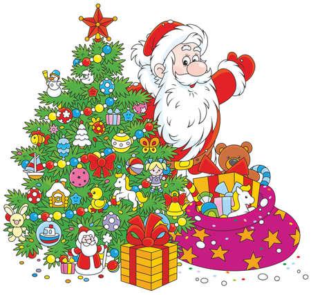 Santa con doni