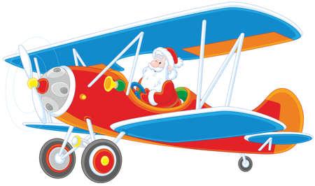 Père Noël voler un avion Vecteurs