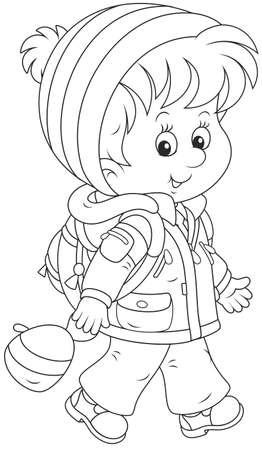 Alumno en ropa de invierno