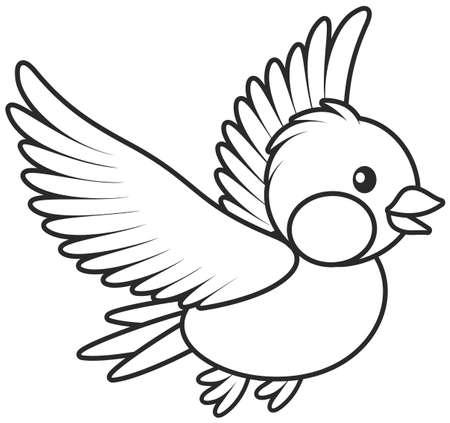 Pequeño pájaro en vuelo