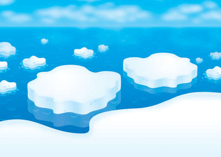 Drifting ice floes