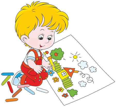 Disegno del bambino Archivio Fotografico - 80569313