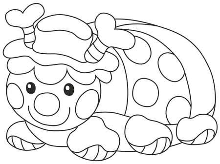 Funny toy ladybug