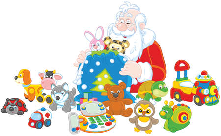 Gifts of Santa Claus Illustration