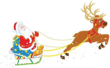 Slitta di Babbo Natale. Archivio Fotografico - 89618321