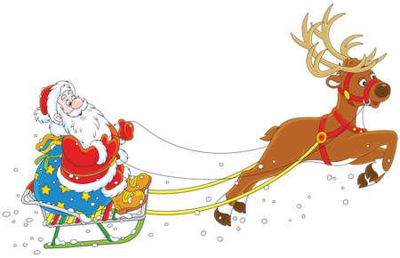 Slitta di Babbo Natale. Archivio Fotografico - 89618323