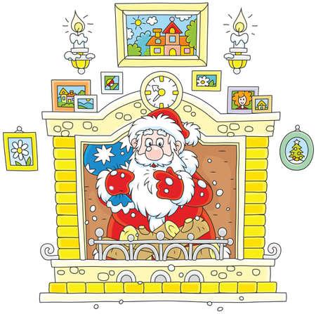 Santa came down the chimney Ilustração