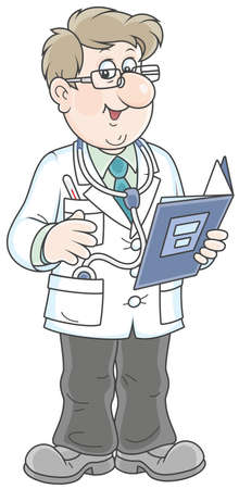 Doctor with a folder and a stethoscope