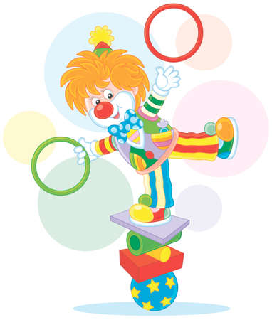 Clown juggler and equilibrist Ilustrace